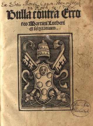 First edition of the papal bull Exsurge Domine (1520).