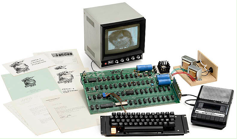 An Apple 1 that sold for 516,461 Euros ($671,400) at Auction Team Brecker, Koehn, Germany, May 25, 2013.