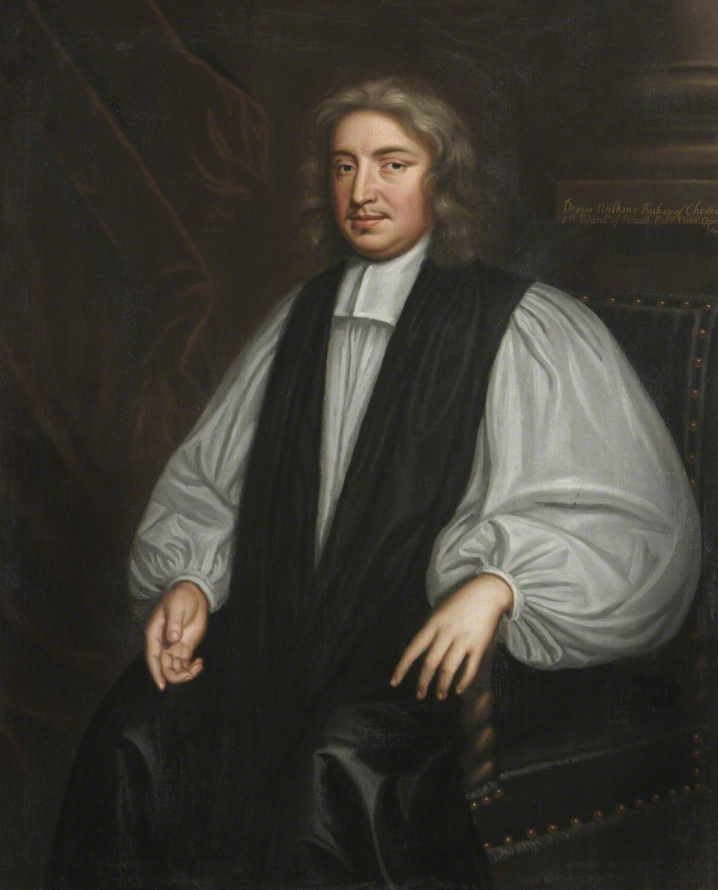 Bishop John Wilkins. Painting attributed to John Greenhill.