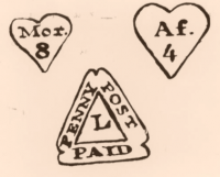 """Lime St. postmark and heart-shaped Time stamps"""
