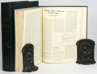 The original printed version of Shannon's thesis in the bound journal volume, with a custom slipcase