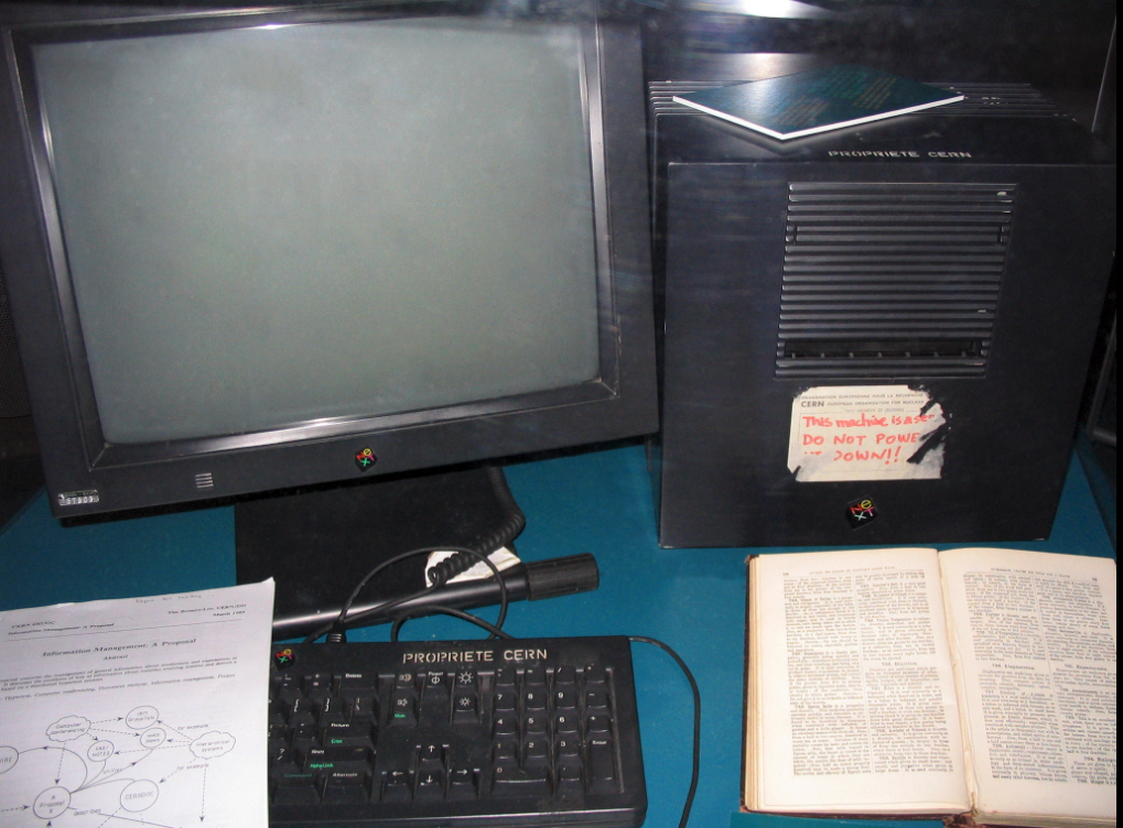 The NeXT Computer used by Berners-Lee at CERN that became the world's first web server
