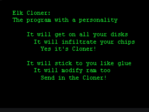 """Elk Cloner, the First """"Wild"""" Computer Spread by Floppy Disk : History of  Information"""