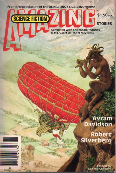 "Cover of Amazing Stories, November 1983, containing the first publication of Bethke's story that coined the term ""Cyberpunk"""