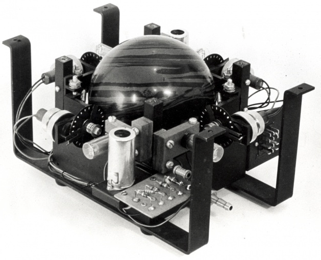 Prototype (circa 1951) of trackball used in the successful 1953 sea trials of DATAR.