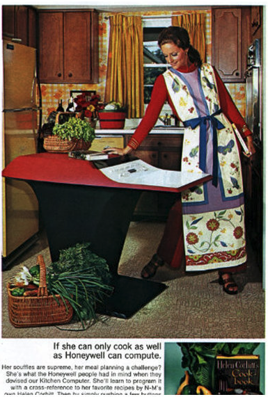 An advertisement for the Honeywell Kitchen Computer