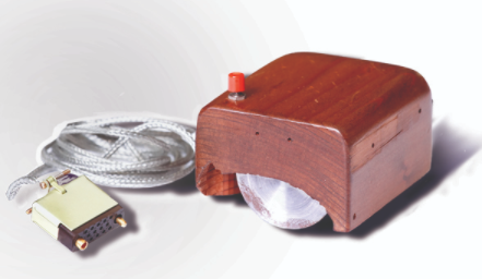 Engelbart's prototype of a computer mouse, as designed by Bill English from Engelbart's sketches.