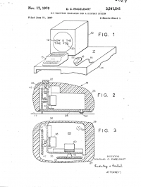 First image in Engelbart's patent for the computer mouse.