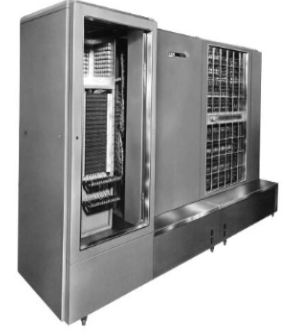 photograph of IBM 737 Magnetic core storage unit