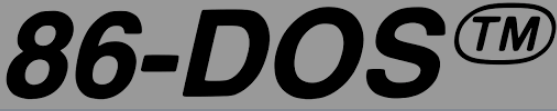 Logo of 86-DOS which Microsoft renamed MS-DOS.