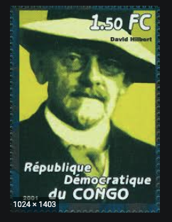 Stamp issued by the Democratic Republic of Congo commemorating David Hilbert