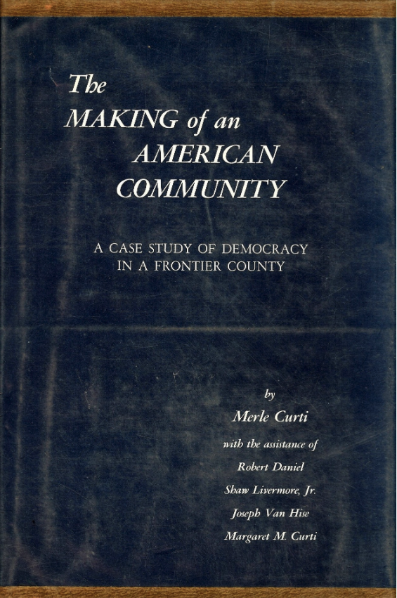 Dust Jacket of Curti's The Making of an American Community