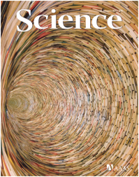 cover of Science magazine with book sculpture of Matej Krén