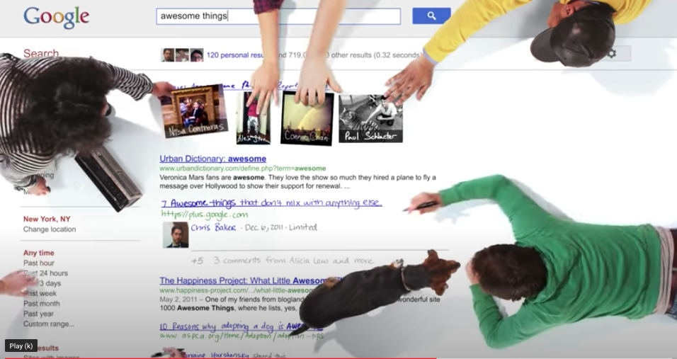 Screenshot of Google video