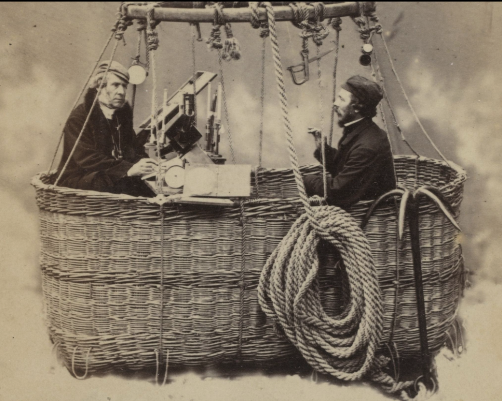 James Glaisher (left) and Henry Tracey Coxwell Ballooning in 1864