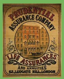 Early Prudential advertising, probably produced close to the time of company founding.