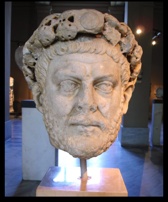Head of a statue of Diocletian