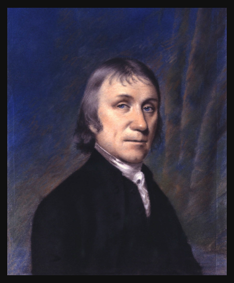 Portrait of Joseph Priestley. Pastel, original dimensions: 9 1/2 in. x 7 3/8 in