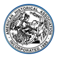 Original logo of the American Historical Association