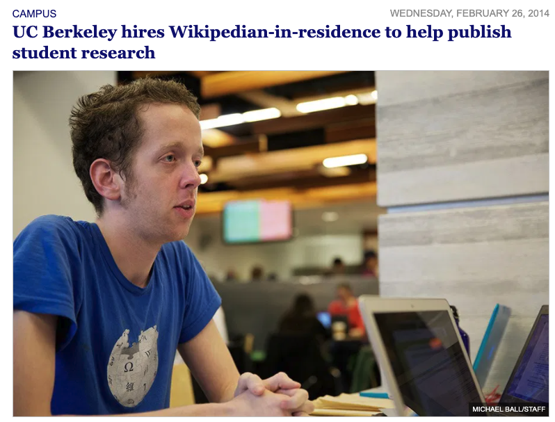UC Berkeley Hires Wikipedian in Residence
