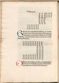 In this leaf from the first printed edition of Aelianus, issued in Rome in 1487,