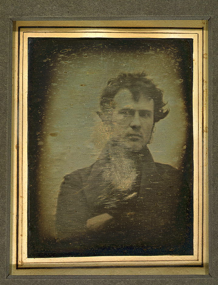 Self-portrait daguerreotype taken by Robert Cornelius