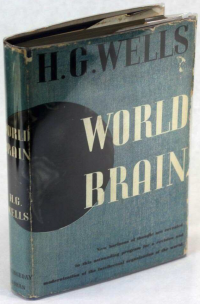 Dust jacket of the first American edition of Wells' World Brain, published by Doubleday, Doran.