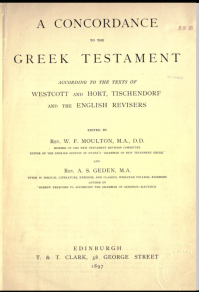 Title page of A Concordance to the Greek Testament