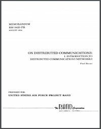Title page of Baran's On Distributed Communications