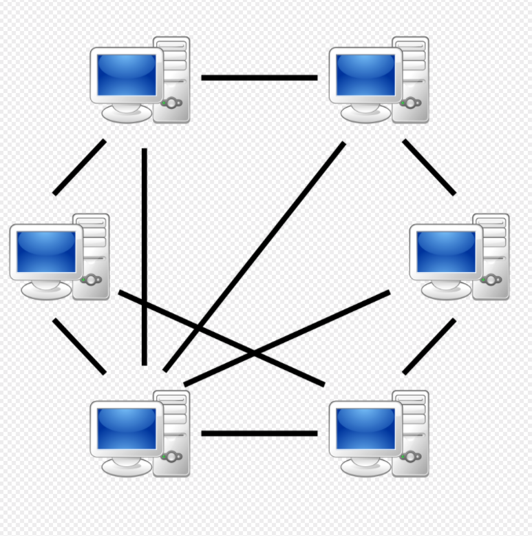 "A peer-to-peer (P2P) network in which interconnected nodes (""peers"") share resources amongst each other without the use of a centralized administrative system"