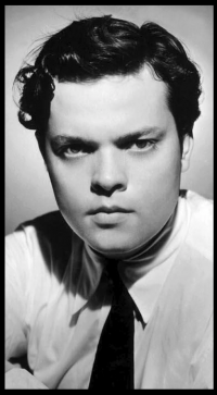 Publicity photograph of Orson Wells released shortly after the radio broadcast