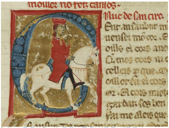 Uc's portrait in a manuscript of vidas, some of which he wrote
