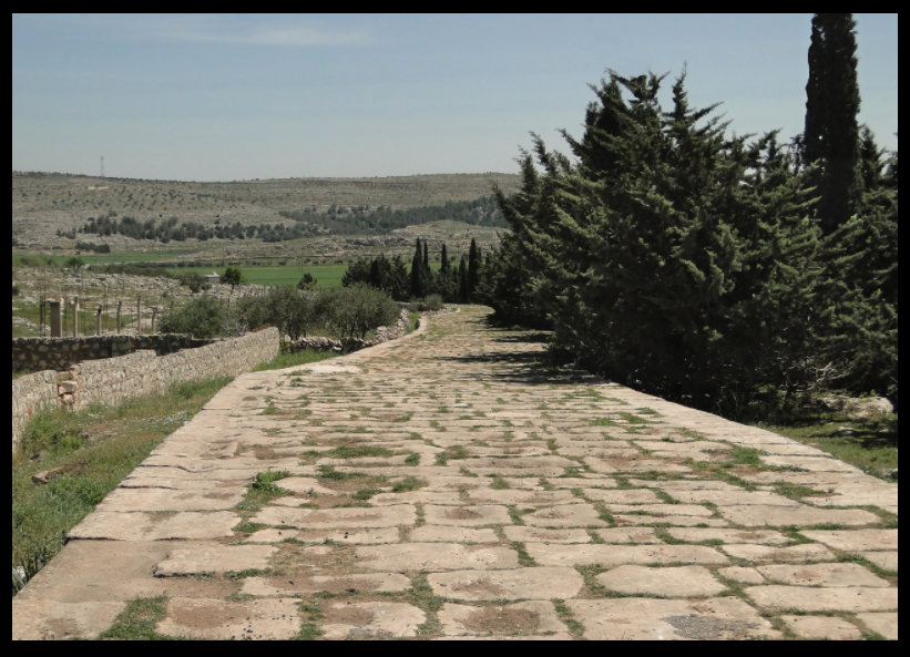 The ancient Roman road connecting Antioch and Qinnasrin, then called Chalcis