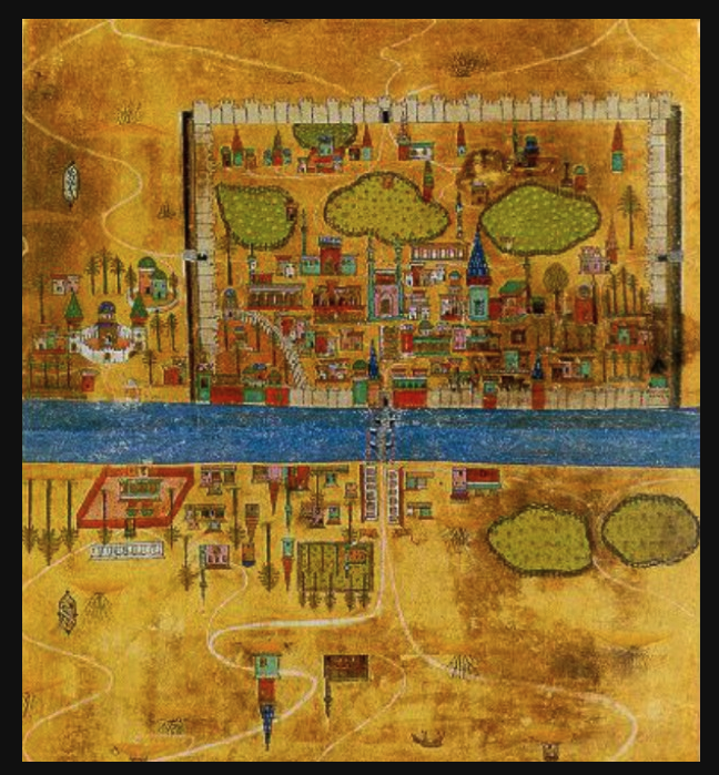 "An Arab city of the early medieval period from a ""contemporary manuscript."""