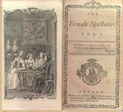 "First volume of ""The Female Spectator"""