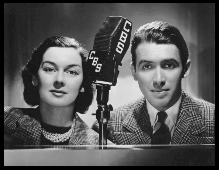 Photo of Rosalind Russell and James Stewart for their performance on CBS Sunday Afternoon Silver Theater.