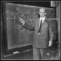 Armstrong explaining the superregenerative circuit, New York, 1922