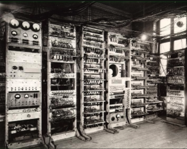 Manchester Mark 1 computer, photographed in 1949.