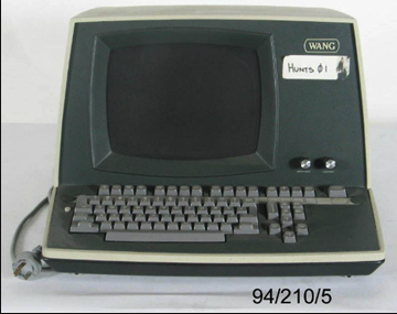 A Wang word processor dating from about 1978.