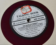 Label on a Talking Book record