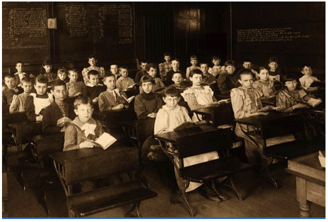 Classroom after Elementary Education Act was passed in England