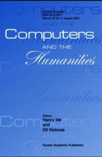 "Cover of an issue of the journal ""Computers and the Humanities"""