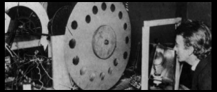 photo of  John Logie Baird with his television apparatus, circa 1925
