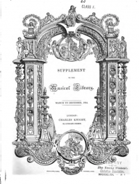 Title page of the Supplement to the Musical Library (1834)