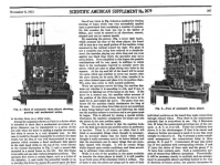 Back and front of El Ajedrecista from the Scientific American, 1915.