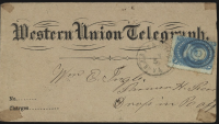 Western Union Telegraph envelope