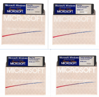 "Scans of the 5.25 inch floppy drives on which the ""Premiere Edition"" of Microsoft Windows was distributed."