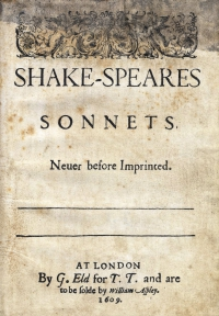 Thomas Thorpe Issues the First Edition of Shakespeare's Sonnets ...