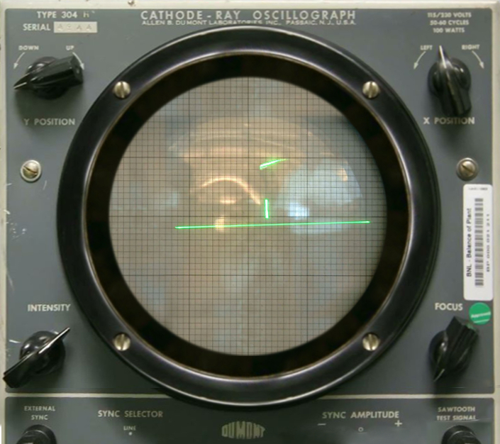 Tennis For Two on a DuMont Lab Oscilloscope Type 304 A