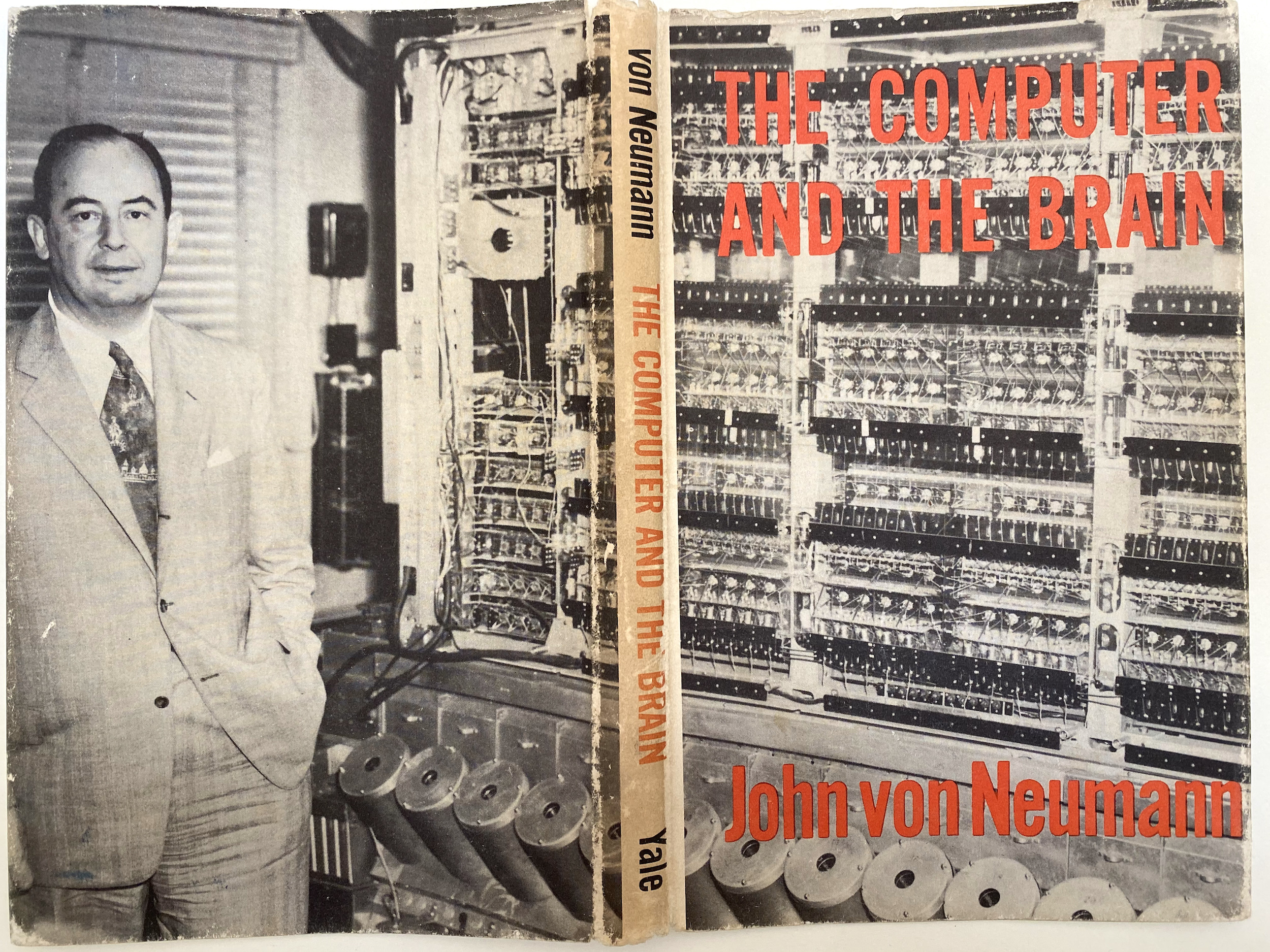 dust jacket for Von Neumann's The Computer and the Brain